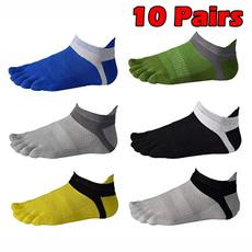 5toescottonsock, toesocksformen, Socks, ankletoesock