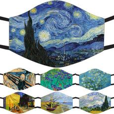 Blues, Flowers, art, paintingmask