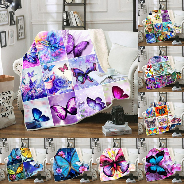 butterfly, Blankets & Throws, blanketthrowforsofa, blanketsforgirl