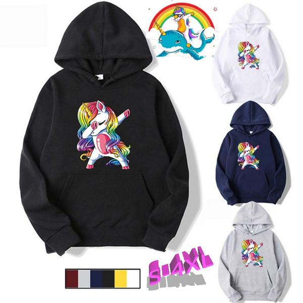rainbow, hooded, Winter, unisextop