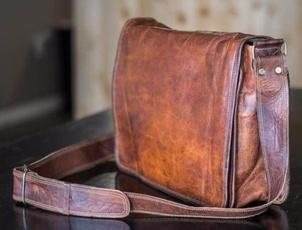 Shoulder Bags, leatherbagsformen, Handmade, Laptop