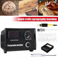 50wheatingkit, digitaldisplay, gourdwoodcraft, woodpyrographymachine