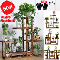 Plants, flowerpot, Garden, Wooden