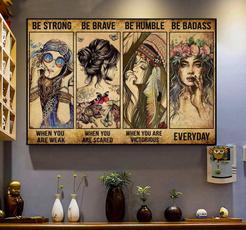 art, girlgiftidea, hippiegirlposter, homedecoridea