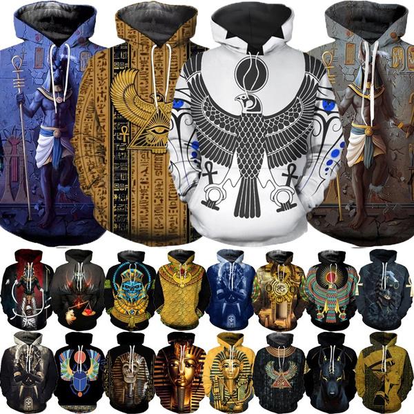 3D hoodies, Fashion, egyptianpharaoh, Egyptian