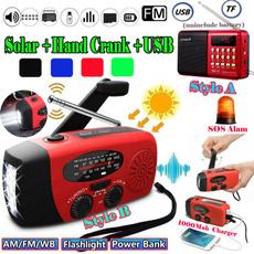 Flashlight, mp3radio, led, crankradio