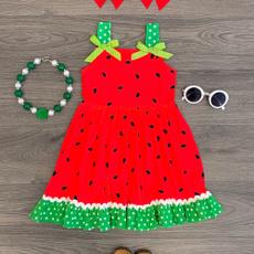 watermelon, bowknot, Baby Girl, Summer