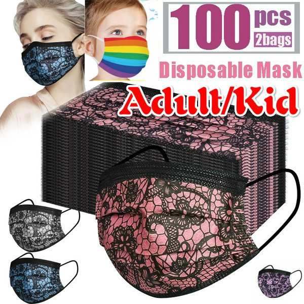 kidmask, mouthmask, Lace, surgicalmask