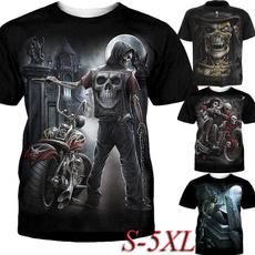 Summer, Mens T Shirt, Goth, Fashion