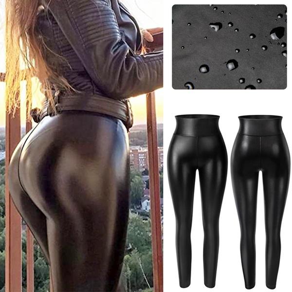 Women, shiny leggings, Panties, skinny pants