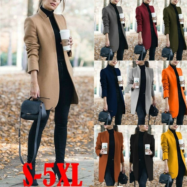 woolen, Plus Size, Outerwear, Office