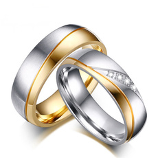 Couple Rings, Steel, Stainless Steel, Jewelry