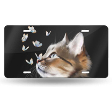 butterfly, Plates, licenseplate, Aluminum
