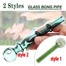 Mini, glassoilburnerpipe, glass pipe, Green