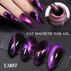 Nails, magnetstick, Beauty, purple