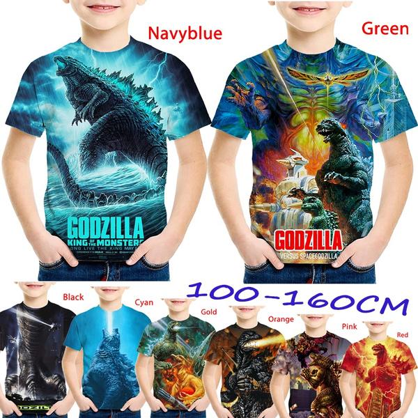 Funny, Fashion, Shirt, godzilla