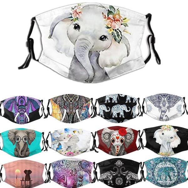 Fashion, elephantprintingmask, unisex, washablemask