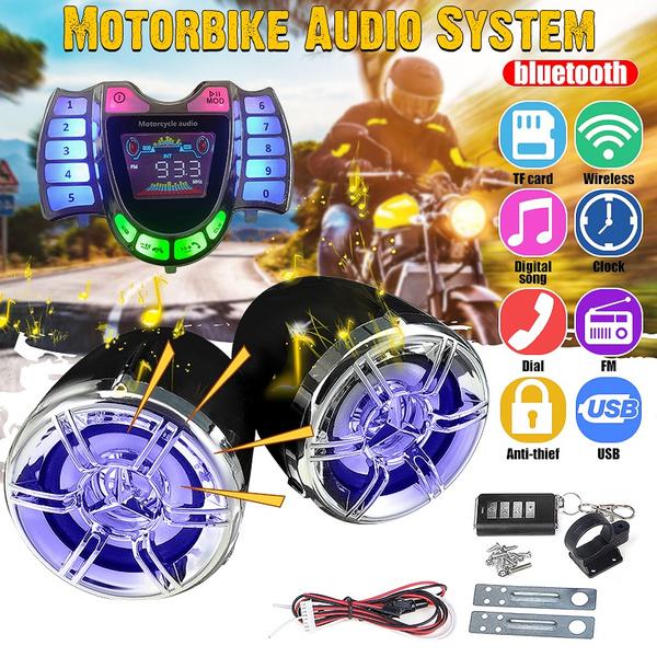 motorcycleaccessorie, stereospeaker, waterproofspeaker, Clock