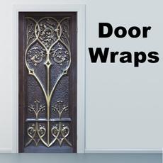 doorcover, peacock, doormural, Door
