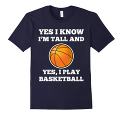 Funny, Basketball, Cotton Shirt, Sports & Outdoors