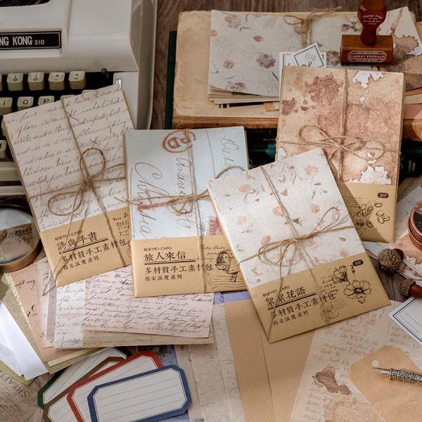 Decor, vintagesticker, paperkit, papercraft