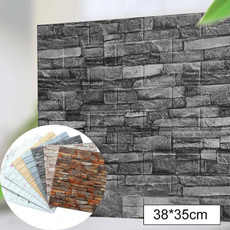 bedroomwallpaper, Home Decor, 3dwallsticker, brickpatternwallpaper