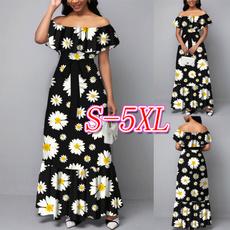 short sleeve dress, ruffle, print dress, highwaistdres