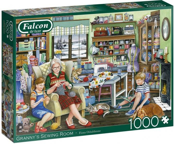 Jigsaw, Piece, room, granny