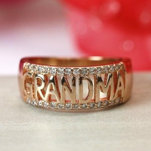 DIAMOND, grandmaring, Family, gold