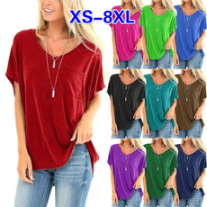 Tops & Tees, Plus Size, Cotton T Shirt, Summer