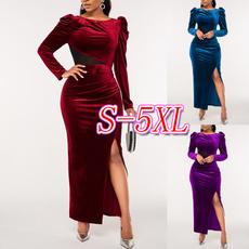 long sleeve dress, solidcolordres, highwaistdres, plus size dress