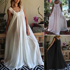 Summer, summer dress, Lace, long dress