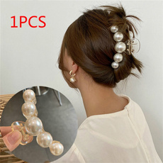 pearlhairclawclip, Makeup, stylingbarrette, Barrettes