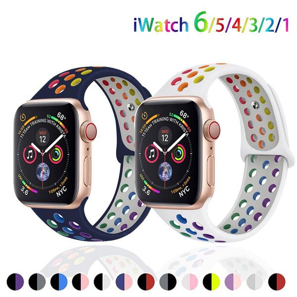 iwatch6siliconeband, iwatchsportsstrap44mm, Jewelry, iwatchband38mm