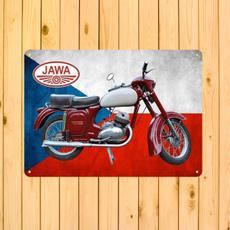 jawamotorcycle, wallsignsdecor, retrometalartposter, signsdecor
