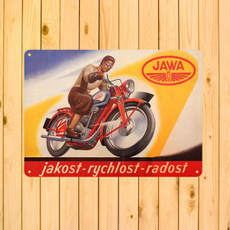 metalartposter, jawamotorcycle, metalpaintingdecor, retrotinsign