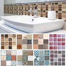 Bathroom, art, Colorful, Waterproof