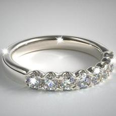 Sterling, DIAMOND, Jewelry, princessring