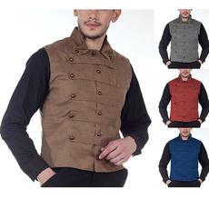Vest, Plus Size, Medieval, button