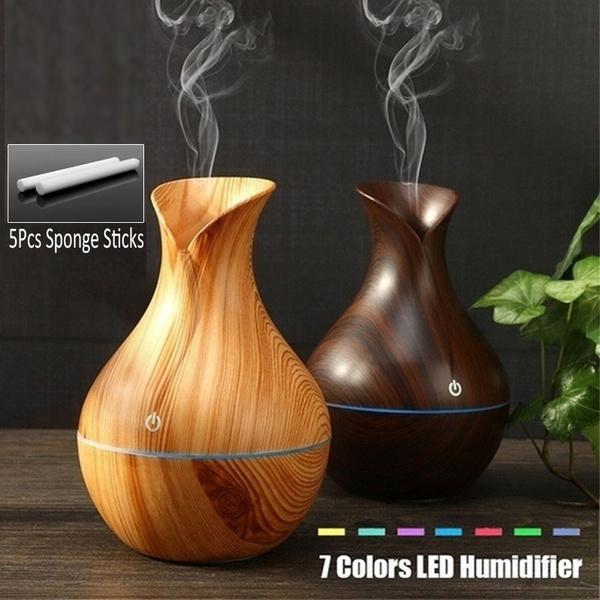 woodairhumidifier, aromatherapydiffuser, essentialoilhumidifier, leddiffuser