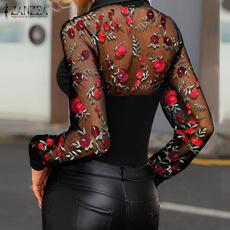 blouse, Fashion, lacefloral, Women Blouse