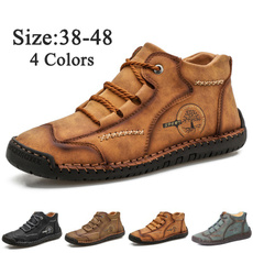 ankle boots, antiskid, Outdoor, leather shoes