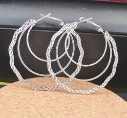 dressingearring, Sterling, Hoop Earring, Jewelry