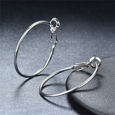 18 k, Hoop Earring, Exaggeration, gold