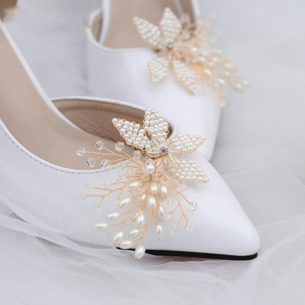 decoration, Womens Shoes, Clip, pearls