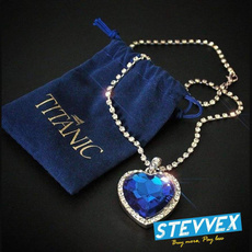 Blues, blueheartnecklace, Diamond Necklace, Love