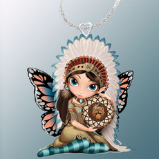 butterfly, Sterling, angelnecklace, Fashion