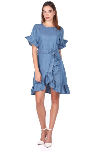 Women's Fashion, Dress, ruffle, Jeans