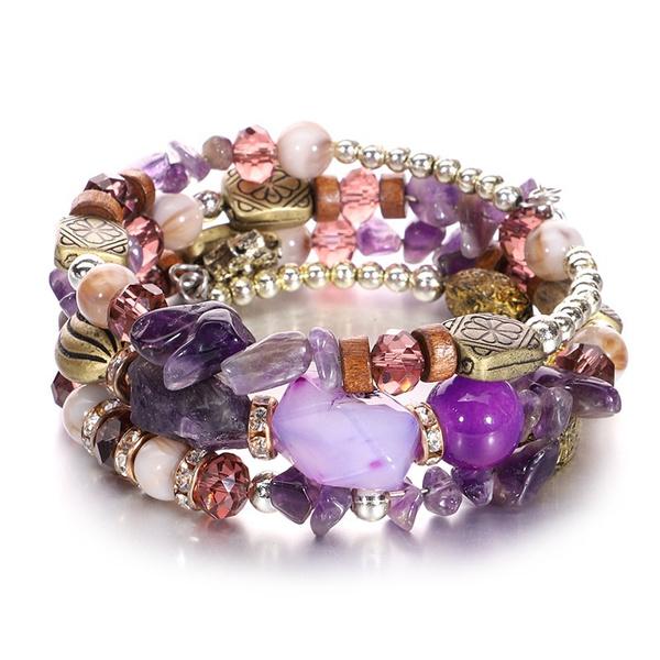 bohemia, Charm Bracelet, Stone, Jewelry