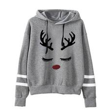 elk, hooded, Christmas, Sleeve